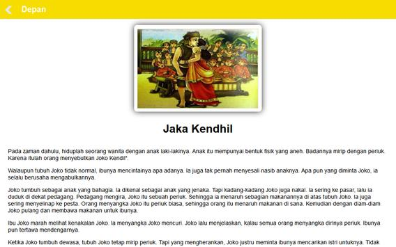 Cerita Rakyat Jawa Tengah apk screenshot