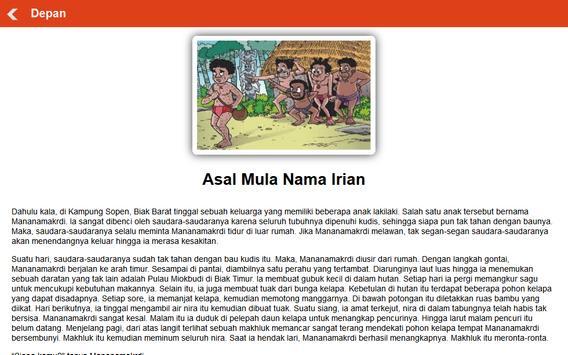 Cerita Rakyat Daerah Papua apk screenshot