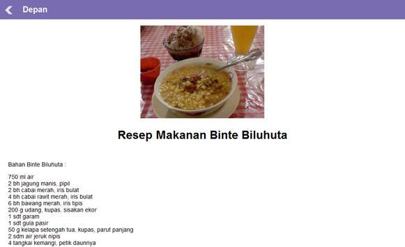 Resep Masakan Daerah Gorontalo apk screenshot