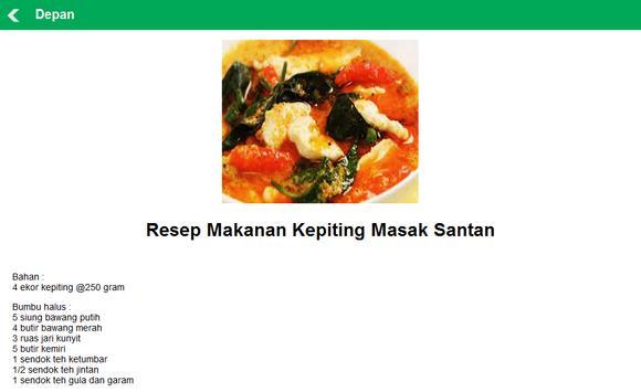 Resep Masakan Kalimantan Timur apk screenshot