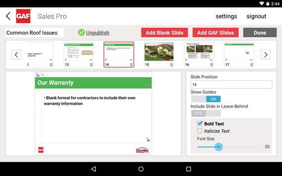 GAF Sales Pro apk screenshot
