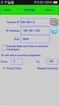UDP Transceiver apk screenshot