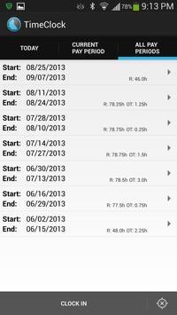 Doing Time Lite - TimeClock apk screenshot