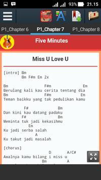Kunci Gitar Five Minutes apk screenshot