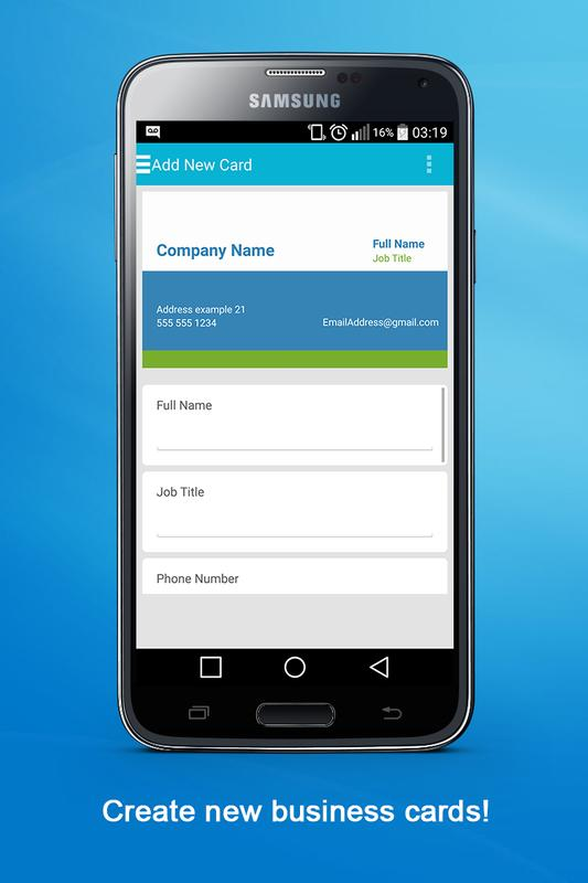 Business card maker apk download free business app for for App to make business cards