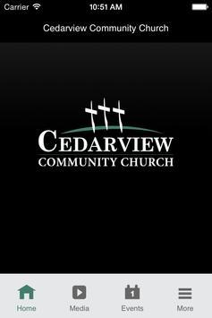 Cedarview Community Church poster