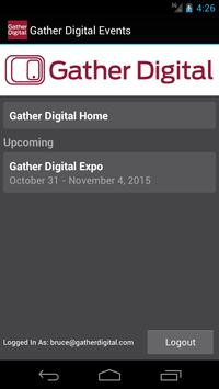 Gather Digital Events poster
