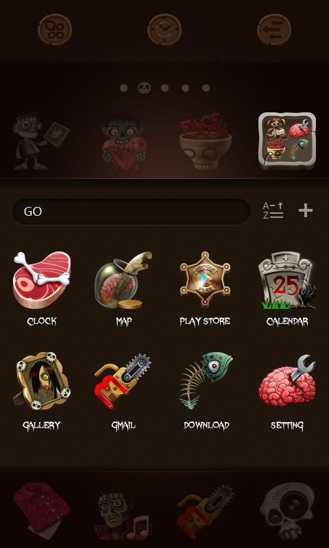 zombie go launcher theme apk download free
