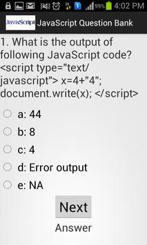 JavaScript apk screenshot