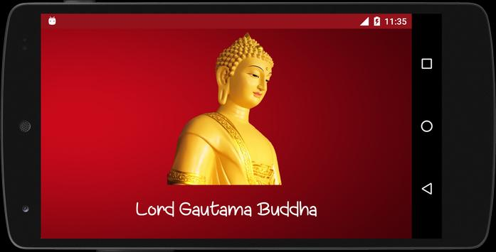 Quote of Lord Buddha in HD poster