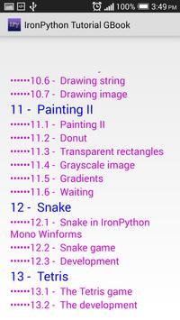 IronPython Tutorial apk screenshot