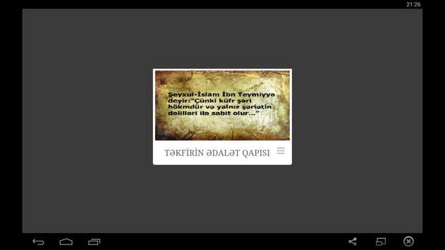 Təkfirin Ədalət Qapısı poster
