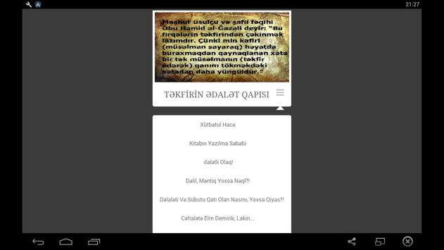 Təkfirin Ədalət Qapısı apk screenshot