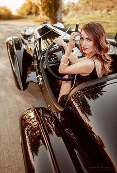 Car girl poster
