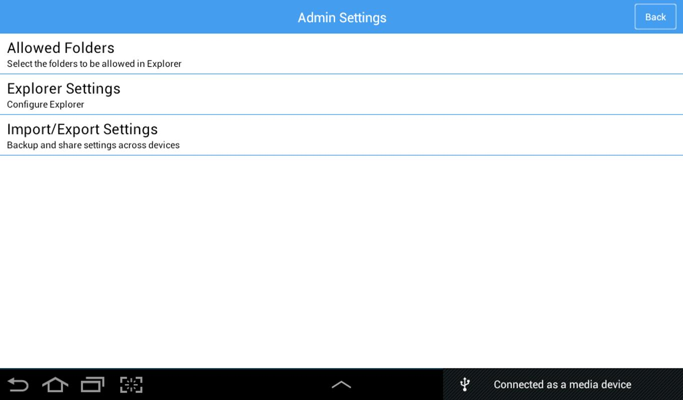 how to open file explorer on android