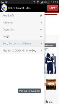 Gebze Ticaret Odası apk screenshot