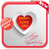 10000 love sms icon