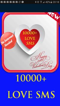 10000 love sms poster