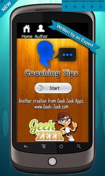 Coaching Tips poster