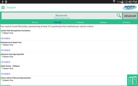EmployRI apk screenshot