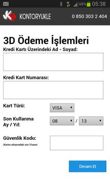 KONTOR YUKLE apk screenshot