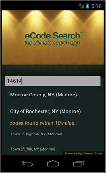eCode Search poster