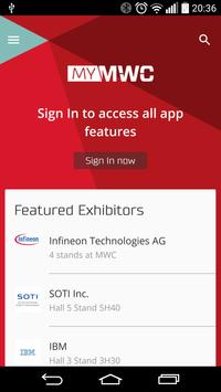 My MWC – Official GSMA MWC App poster