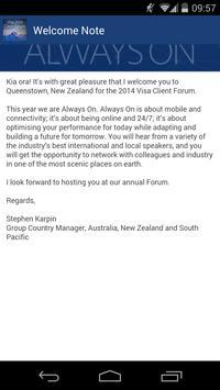 Visa Client Forum 2014 apk screenshot