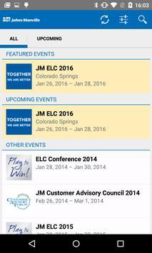 Johns Manville Events apk screenshot