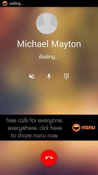 nanu - free calls for everyone apk screenshot