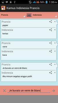 Kamus Indonesia Prancis apk screenshot
