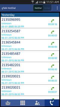 gTalk HotDial apk screenshot