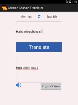 German Spanish Translator apk screenshot
