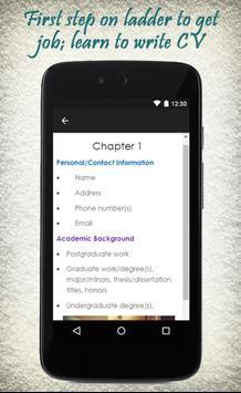 How To Write A CV apk screenshot