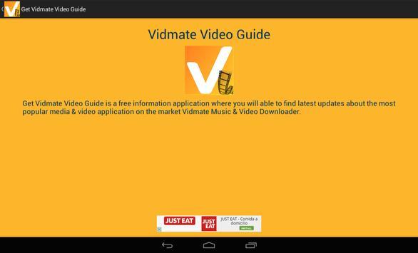 Get Vidmate Video Guide poster
