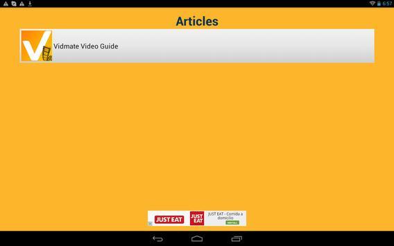Get Vidmate Video Guide apk screenshot
