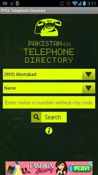 PTCL Telephone Directory apk screenshot