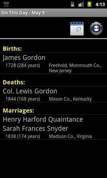 GedStar On This Day Widget apk screenshot