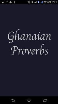 Ghanaian Proverbs poster