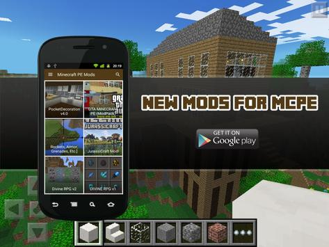 New Mods for MCPE poster