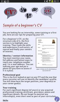 Tips for a successful Resume apk screenshot