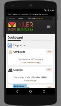 Mailer For Business apk screenshot
