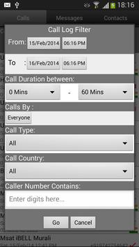 Call Log Search Filter GlogMe poster