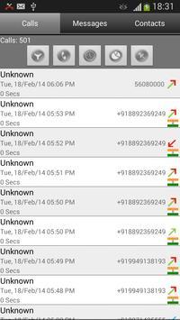 Call Log Search Filter GlogMe apk screenshot