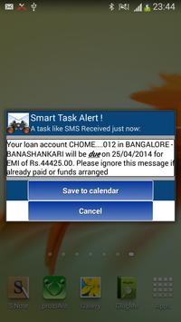 Smart Task SMS Scanner apk screenshot