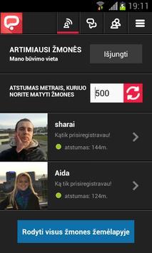 Gyvos pazintys - Hunt me apk screenshot