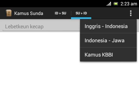 Sundanese Dictionary apk screenshot