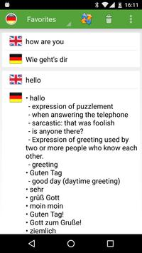 English - German Translator apk screenshot