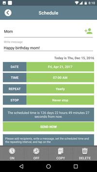 SMS Scheduler poster