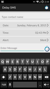 DelaySms: Schedule text poster